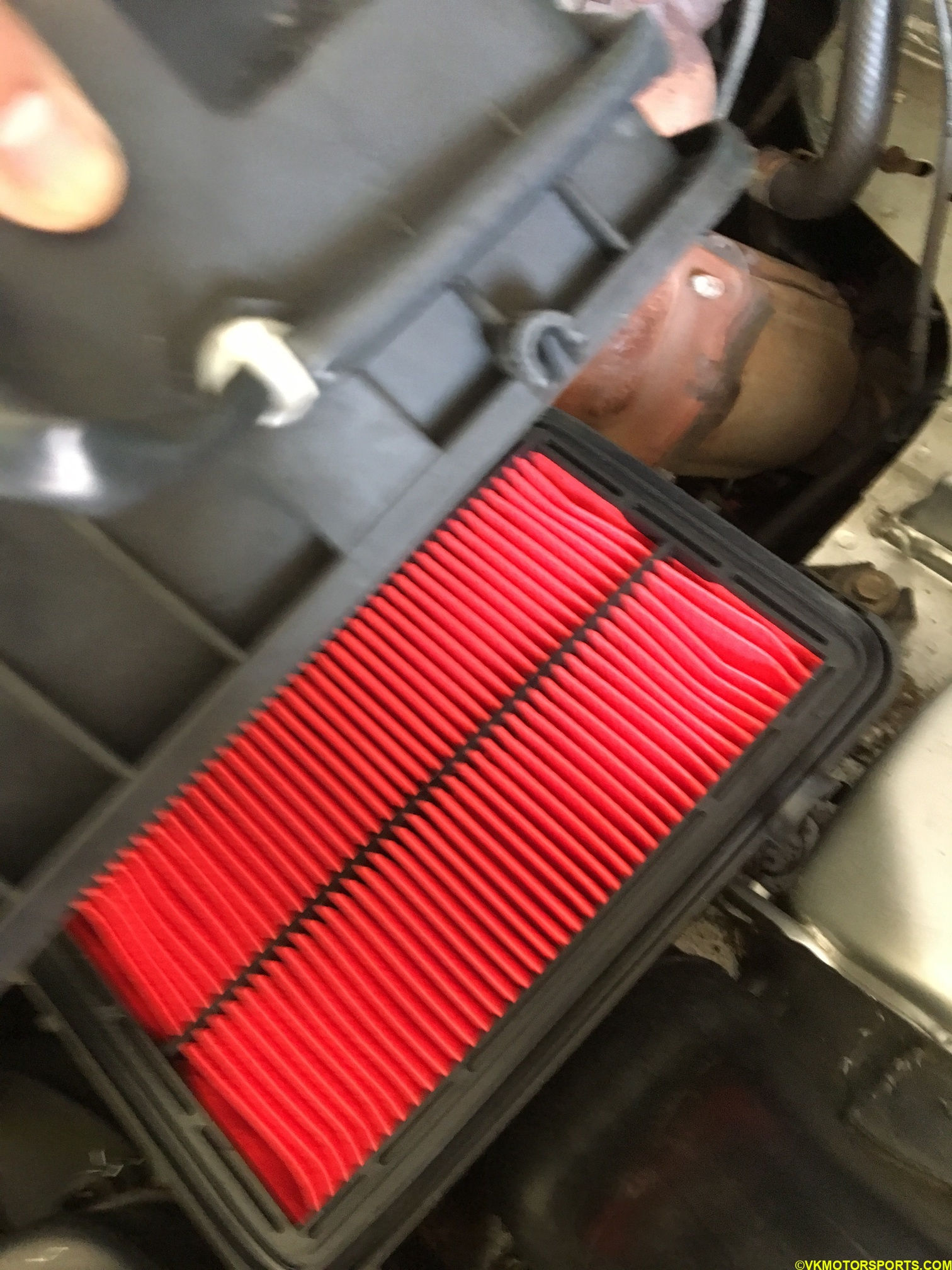 Figure 6. New Air filter installed