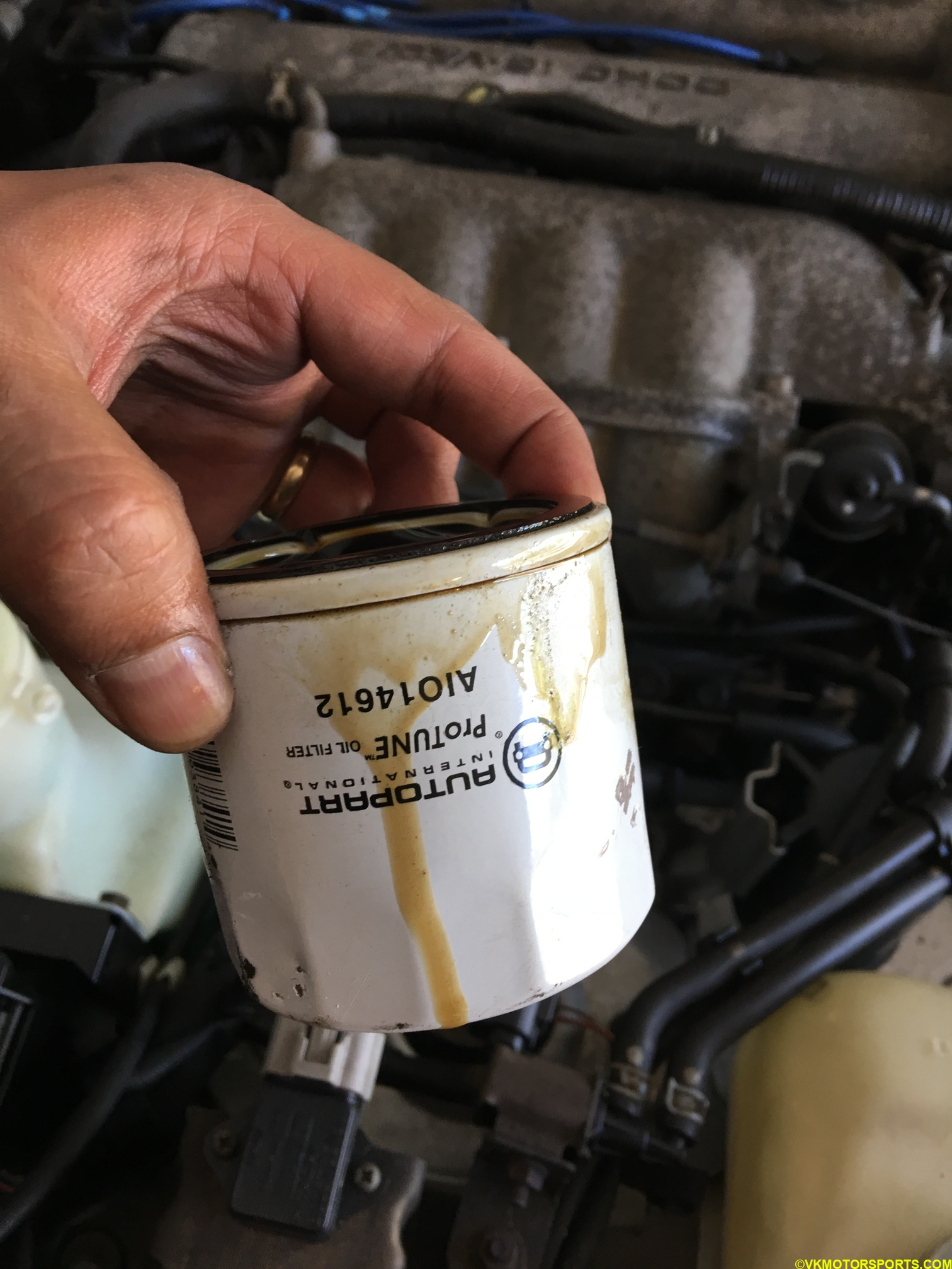 Figure 11. Old oil filter is now out