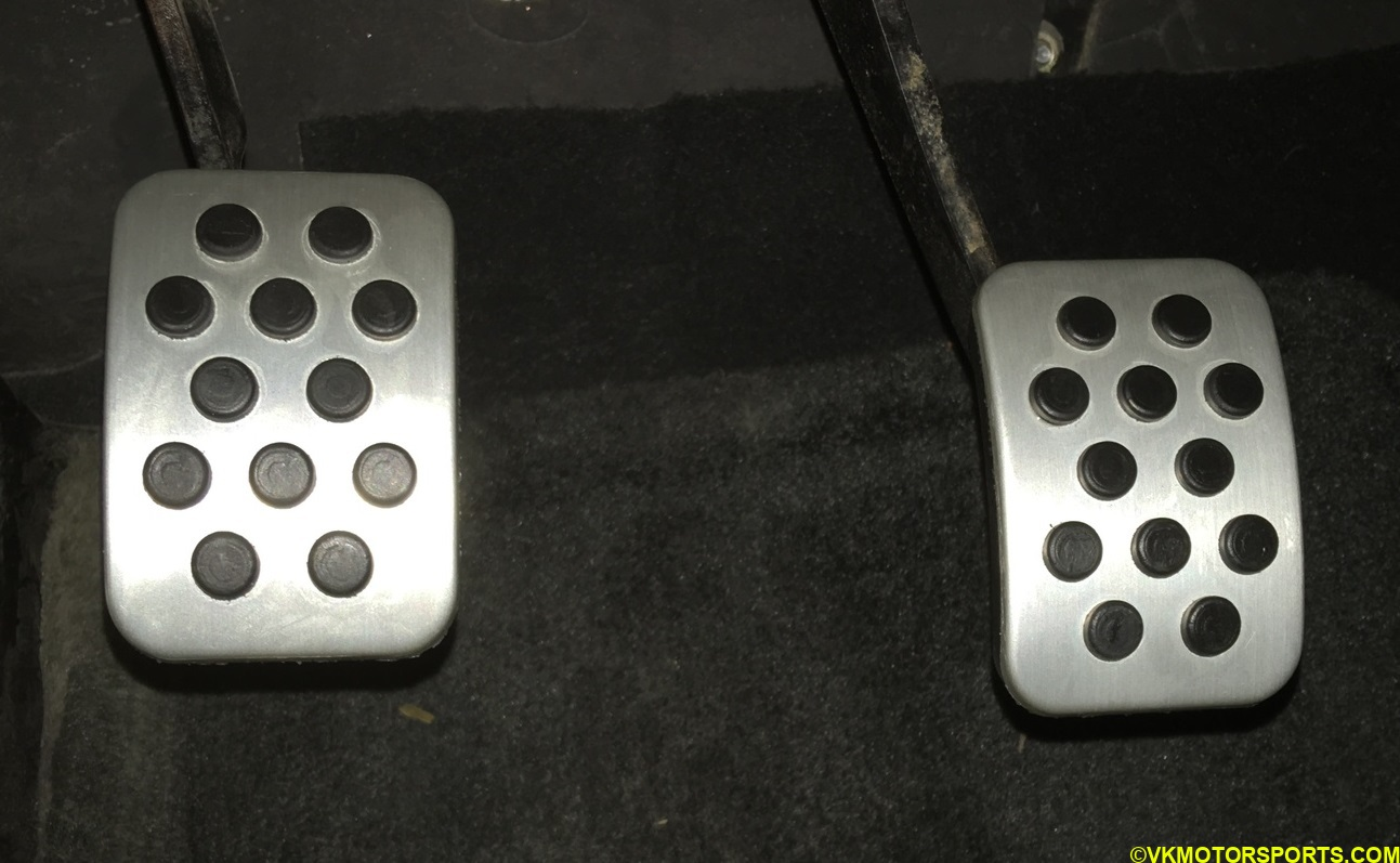 Clutch and Brake Pedal Covers Installed
