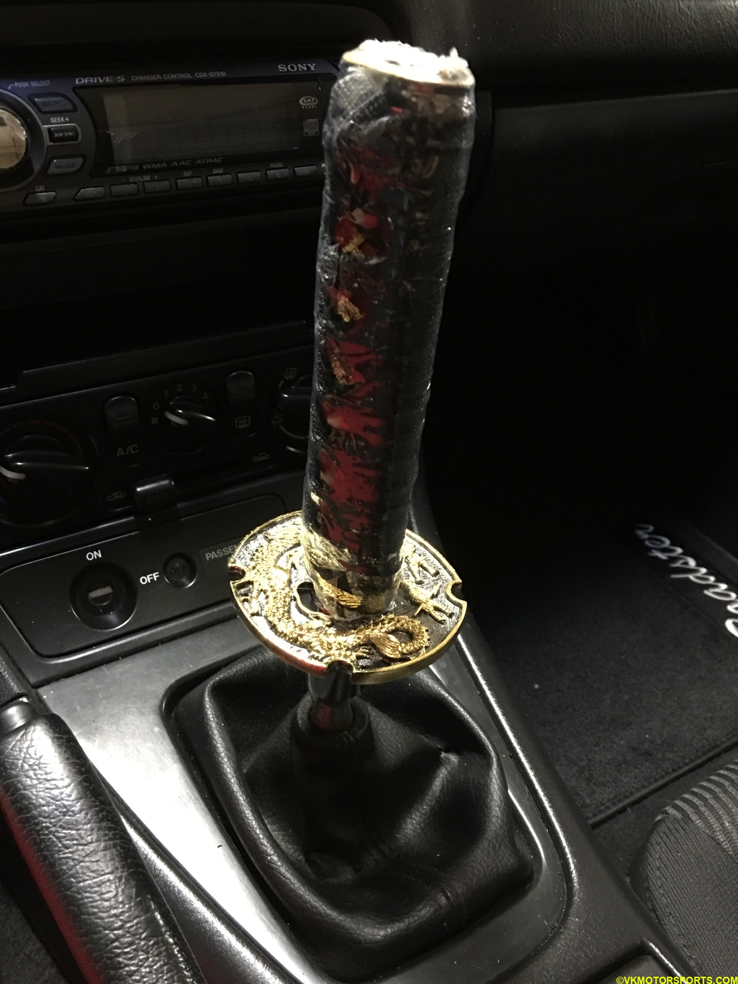 Figure 12. Close-up of new shifter knob